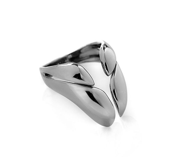 Ring Pebbles - Silver 925 Black platinum plated