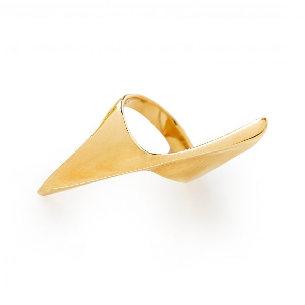 Ring symmetry gold, contemporary jewellery